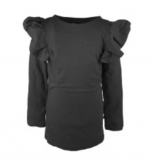 The Brand - FLOUNCE DRESS Black