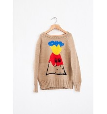 Bobo Choses - Volcano Knitted Jumper Brown
