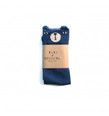 Mini Dressing - Bear Knee Socks Blue