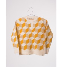 Bobo Choses - Op Art Knitted Jumper Yellow