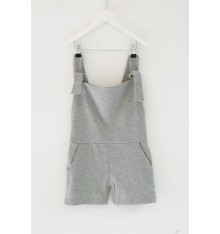 POPUPSHOP - Jumpsuit Short Grey melange